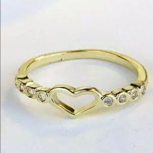Little Gold Love Ring Size 9